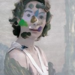 La Repubblica delle donne (#1), 2006, olio su pagina di rivista, 28x20 cm