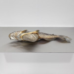 Luca Francesconi, End of the rivers, catfish, stone, 60x35x25, 2014, photo Rossetti, courtesy Fluxia